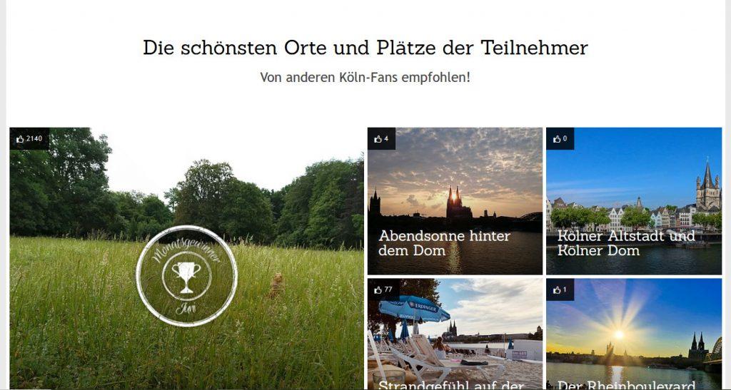 Screenshot von https://www.koelntourismus.de/sehen-erleben/lieblingsort/ vom 02.07.2020